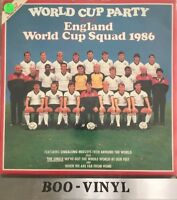 World Cup Party LP England World Cup Sq 1986 Vinyl Record Inc Mint Poster Rare
