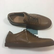 Clark's Calderon Speed Sneaker Tan Cow Full Grain Leather Men 7 Comfort Casual