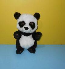 "10"" Disney Parks Baby Panda Bear Plush Stuffed Animal Toy Black & White"