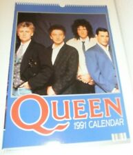 QUEEN 1991 Calendar Kalender Calendario Calendrier Freddie Mercury 90s Vintage