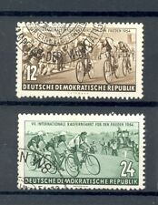 East Germany DDR 1954 International Cycling SG E180/181