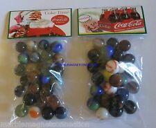 2 BAGS OF COCA COLA SANTA CLAUS / CHRISTMAS ADVERTISING PROMO MARBLES