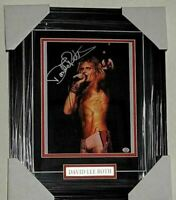 David Lee Roth Signed Custom Framed Van Halen  8x10 picture  COA PAAS Certified