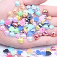 Heart shaped Half Pearl Flatback Resin Imitation Pearls Beads for DIY Decoration