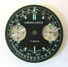CHRONO SWISS diver chronograph dial fit for Valjoux 7733. NOS swiss made