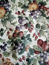 "Summer Fruits Berry grapes Fabric Country Cottage Kitchen Blind Pelmet 102""x35"""