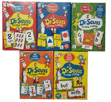 5-Pack Dr. Seuss Flash Cards Set for Homeschooling Teaching - 40 Cards ea - New!