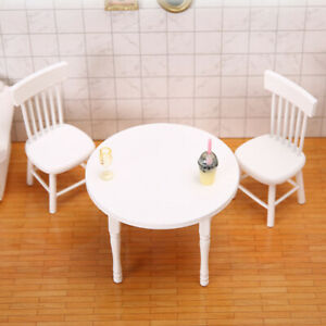 1:12 Dollhouse MIninature Dining Table Chair Set Wooden Furniture Model Decor