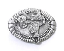 pewter southwest western belt buckles Classic Saddle Belt Buckle 13119