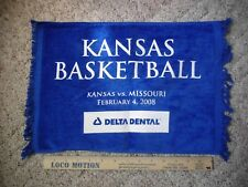 2008 Kansas University Jayhawks Basketball Towel {Missouri Tigers]