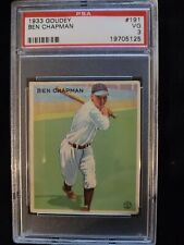 1933 GOUDEY #191 BEN CHAPMAN PSA 3 VG Check out my other listings!