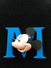 Uncommon Vintage 1995 Disney Mickey Mouse ( 3D M) Refrigerator Magnet