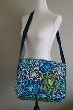 Vera Bradley Crossbody Messenger Bag Katalina Blues Pattern Floral Handbag Purse