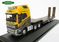 BNIB OO GAUGE OXFORD 1:76 76VOL4009 Volvo FH4 Lorry Low Loader G F Job Flat Bed
