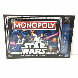 NEW Monopoly Star Wars 40th Anniversary Special Edition Disney Hasbro Gaming#452
