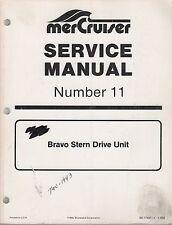 New listing 1993 Mercruiser # 11 Bravo Stern Drive Unit Service Manual 90-17431 (371)