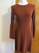 Theory Women's Deep Red Oak Super Soft Cashmere Dress size Small NWT