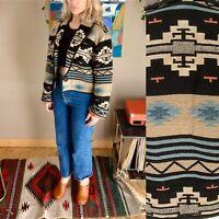 90s women's vintage Southwest woven tapestry coat S/M boho