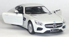 NEU: Mercedes AMG GT Coupé Sammlermodell ca. 1:36 / 12,5 cm weiß Neuware WELLY