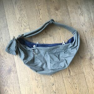 Slowton Pet Papoose Carrier Sling Grey Navy - Used For 2 Weeks, Great Condition