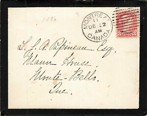 Montreal, Quebec 1896 Duplex Mourning Cover Tied Ottawa To Monte Bello, Canada