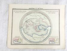 1846 Antique Map of Ancient Greek Homer Hesiod Argonaut Hand Coloured Engraving