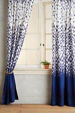 "NEW ANTHROPOLOGIE BLUE LAXMI CURTAIN WINDOW PANEL 50"" X 84"""