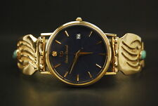 Lucien Piccard 14K/18K Yellow Gold Quartz Date Watch (22478) Native American