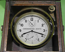 Zenith marine chronometer le locle raro cronometro da marina