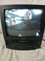 "Samsung CXJ1352 13"" CRT TV VCR Combo Retro Gaming Gamer Television"