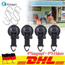 4 Satz Schwerlast-Saugnapf Anker mit Sicherungshaken Befestigung mit S-Hakenring