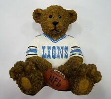 Detroit Lions NFL Football Ceramic Mini Teddy Bear Figurine by Elby Gifts