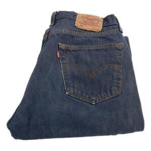 Mens Levi Strauss 501 Straight Leg Jeans Waist 32 Leg 32 Button Fly (P3592)