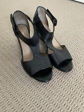 Hobbs Black Wedge Shoe Heel, Size 38