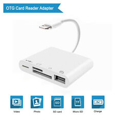 Lightning to USB Camera Adapter 4 in 1 SD/TF Card Reader For iPhone X 6 7 8 iPad