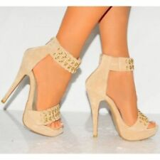 Suede Party Patternless Slim Heels for Women