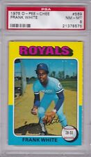 1975 OPC #569 FRANK WHITE PSA 8 NM/MT o-pee-chee tough! Kansas City ROYALS