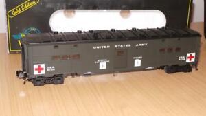 AQ231: Weaver O Gauge US Army World War II Troop Hospital Car 8738 - Exc/Boxed