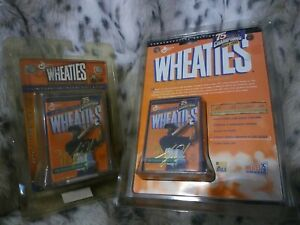 Lot of 2 Tiger Woods Mini Wheaties 75 yrs of champions 1998 24K gold signature