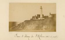 Brest, Pepin, Phare et Abbaye de St Mathieu (Entrée du Goulet)  albumen vintage