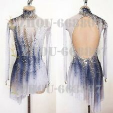 High Elasticity Competition Skating Wear Handmade Ice Skating white dying