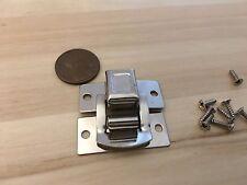 1 Crome square silver hasp small box hardware lock latch latches catches C24