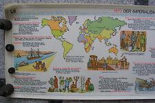 Wandbild Geschichtsfries Imperium 139x50 vintage imperialism wall chart 1965