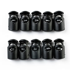 10 Pcs  Plastic Toggle Spring Stop Single Hole String Cord Locks SODIAL Crafts