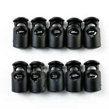 10PCS Paracord Cord Locker Clip Clamp Buckle Toggle 2 hole toggle stopper Black