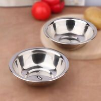 Stainless Steel Metal Deep Mixing Bowls Caterer Salad Spaghetti Pasta .