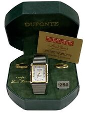 Mens Lucien Piccard Dufonte Watch Two Tone Gold And Silver NEW IN BOX