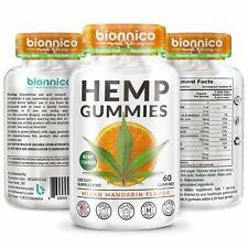 2 60ct Hemp Gummies 25 mg. Formulated to Relieve Stress Pain Anxiety Hair Loss