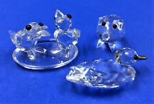 (3) Swarovski Crystal Figurines- A Pair Of Chicks, A Curly Tail Piglet & A Duck