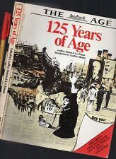 Melbourne Newspaper 1854-1979 125 YEARS of THE AGE 214pg Ned Kelly to Whitlam!